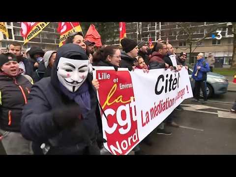 Jour de grève : 8 000 manifestants à Lille, 1 000 à Boulogne, 700 à Valenciennes