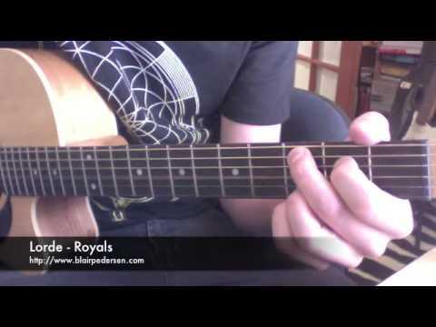 Lorde Royals Super Easy Guitar Tutorial Youtube