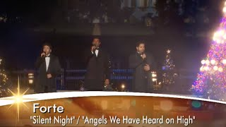 Forte Tenors - National Tree Lighting 2013 - Silent Night & Angels We Have Heard On High