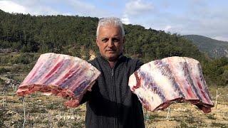 Лучшие жареные говяжьи ребрышки приготовленные в дровяной печи - ASMR Cooking