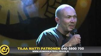 Stand up koomikko Matti Patronen keikalla osa 1/2.