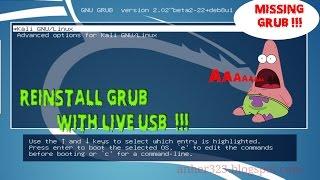 Reinstall Grub KALI LINUX(, 2016-07-16T15:34:38.000Z)