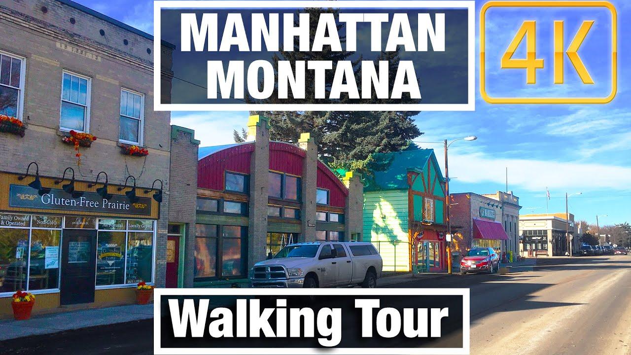4K City Walks: Manhattan Montana town Tour - Virtual Walk Walking Treadmill Video