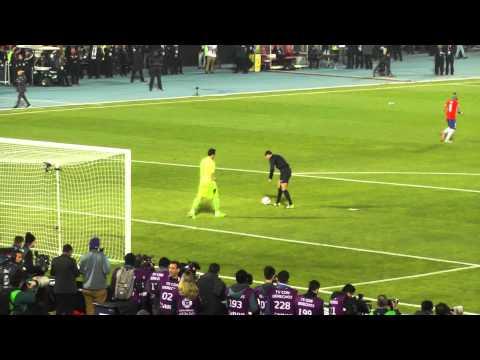 Final Copa América Chile 2015 - Chile Campeón - penales desde la galería (puedes verlo en HD)