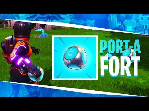 "NEW ""FORT GRENADE"" IN FORTNITE: BATTLE ROYALE! (Port-A-Fort Grenade)"