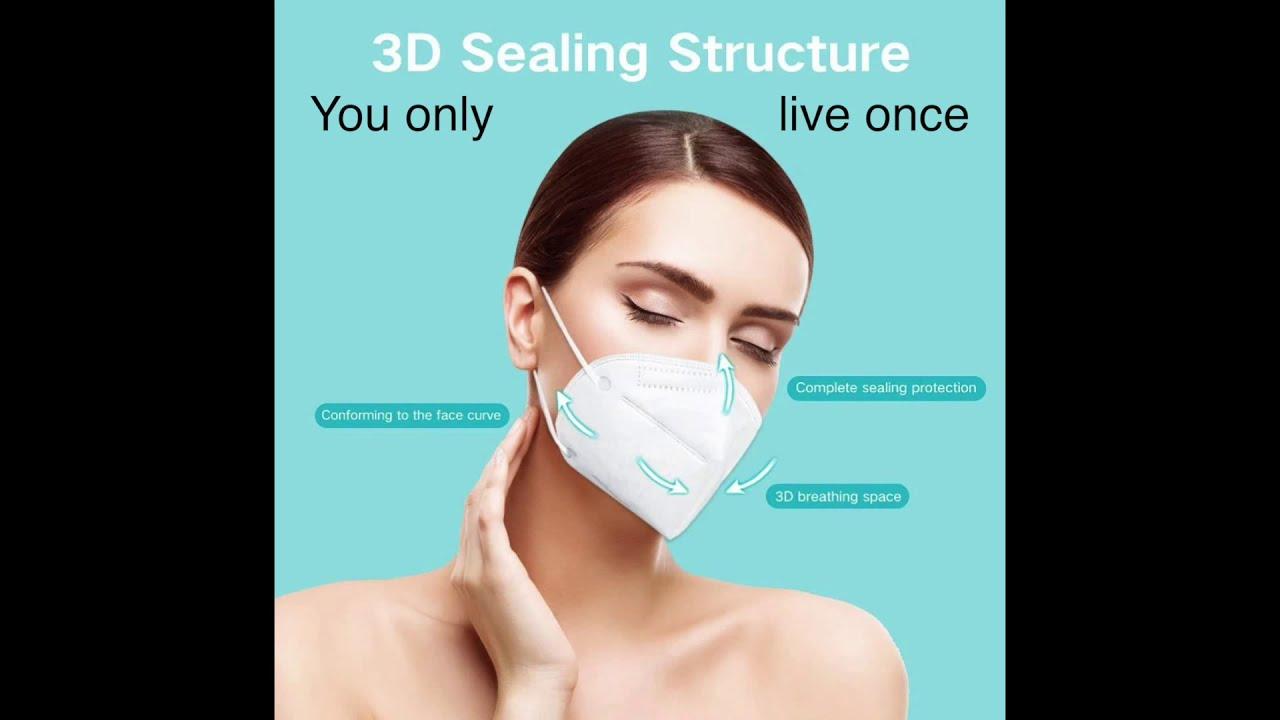KN95 Mask , Face Mask Anti Pollution, Anti Coronavirus, Mouth Mask Particulate Respirator