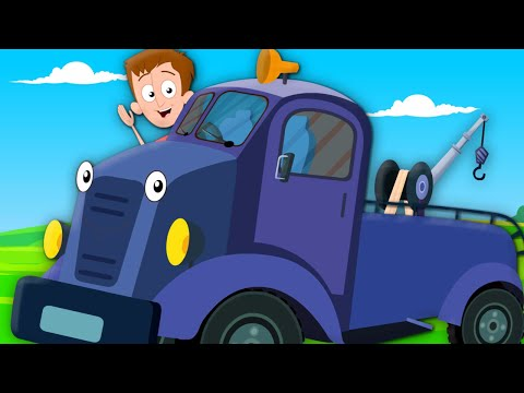 The Wheels On The Tow Truck Go Round & Round | Nursery Rhymes | Kids Songs | Vehicles Kids Tv