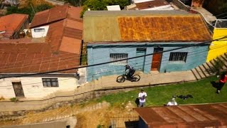 Urban Mountain Biking in Valparaíso | Drone Perspective