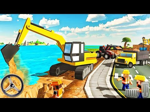 Builds River Wall - Excavator Construction Simulator - Android GamePlay
