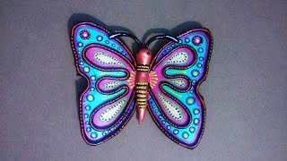 Hobby Ideas : Best out of Waste : Butterfly from Waste CD