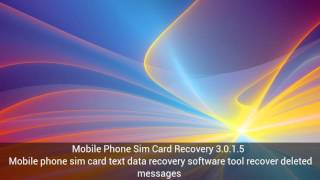 Download Mobile Phone Sim Card Recovery 3.0.1.5