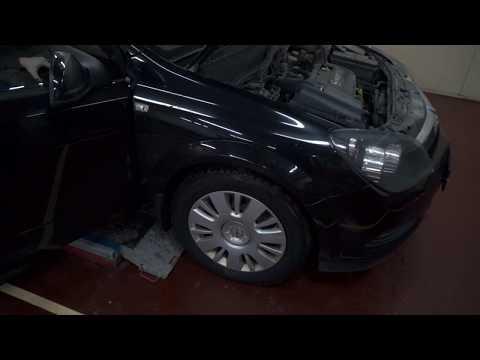 замена колодок Opel Astra