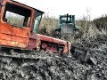 Утоплены ДТ-75 ХТЗ Т-150к первая часть