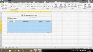 Inicio con Excel Bordes,  Formato de Texto  y como realizar una factura en excel