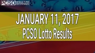 PCSO Lotto Results January 11, 2017 (6/55, 6/45, 4D, Swertres & EZ2)