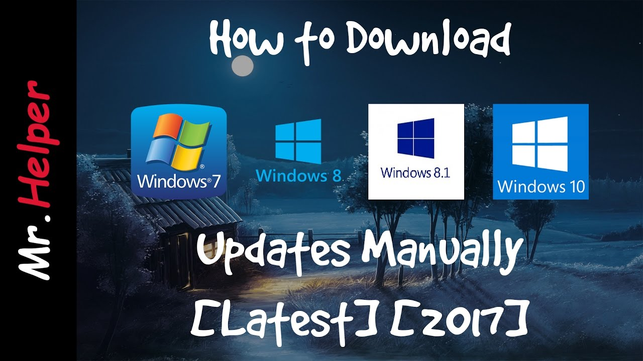 win 7 updates download manually