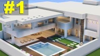 minecraft casa moderna tutorial parte ayn
