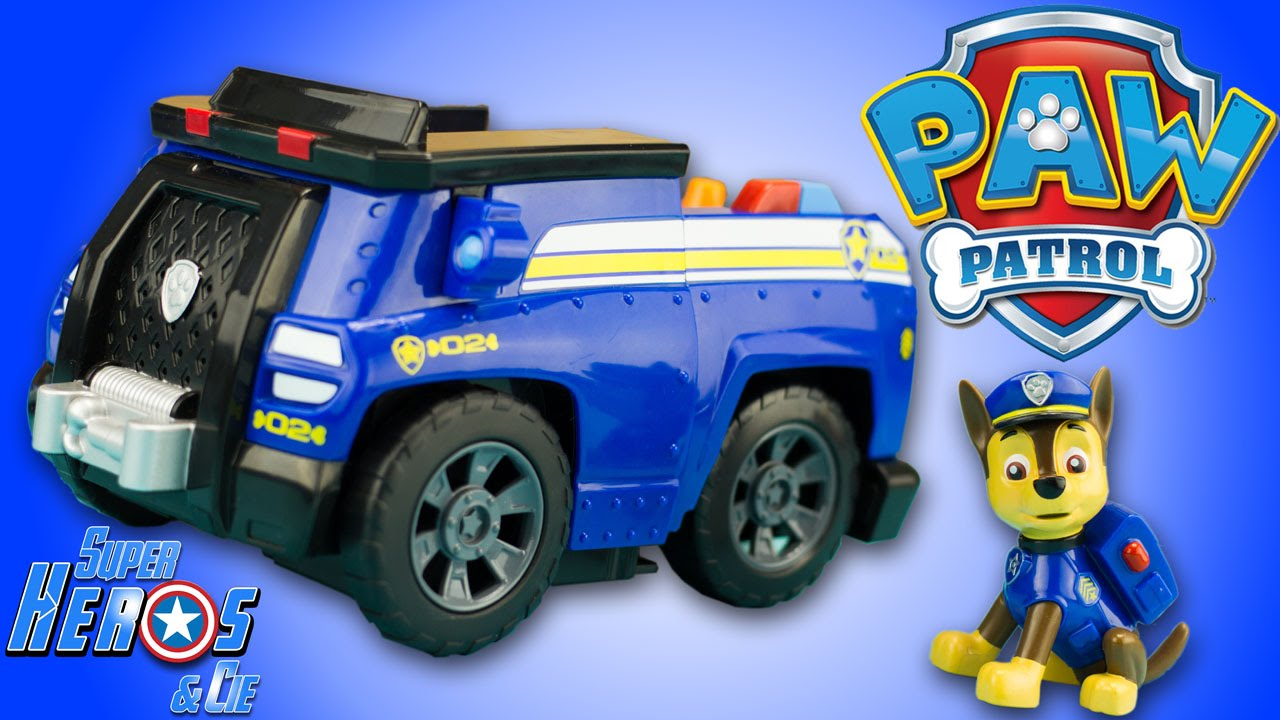 Pat Patrouille Chase Voiture Police Paw Patrol Chase Cruiser Patrulla Canina Jouet Unboxing Youtube