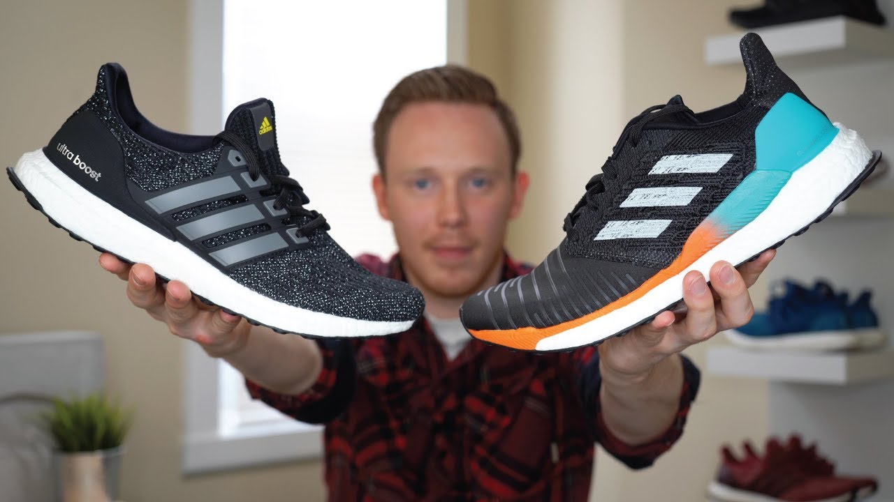 f262de2ffdabe ADIDAS SOLARBOOST VS ULTRA BOOST COMPARISON - YouTube