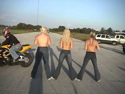 Chicks Topless biker