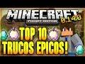 Top 10 de trucos epicos y curiosos de minecraft pe 0.14.0 - 0.14.x | android y ios android