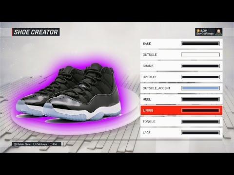 reputable site 77da6 be4d5 NBA 2K17 Shoe Creator   HOW TO MAKE AIR JORDAN SPACE JAM 11   2K17 Air