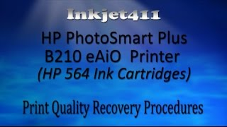 hp photosmart plus b210 eaio printer printhead cleaning hp 564 ink cartridges