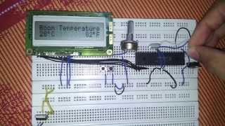 Temperature Sensor LM35 + LCD - PIC16F877A - PICKIT2 - AL3AQRAB
