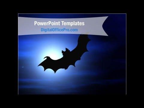 Halloween Bat Powerpoint Template Backgrounds Digitalofficepro