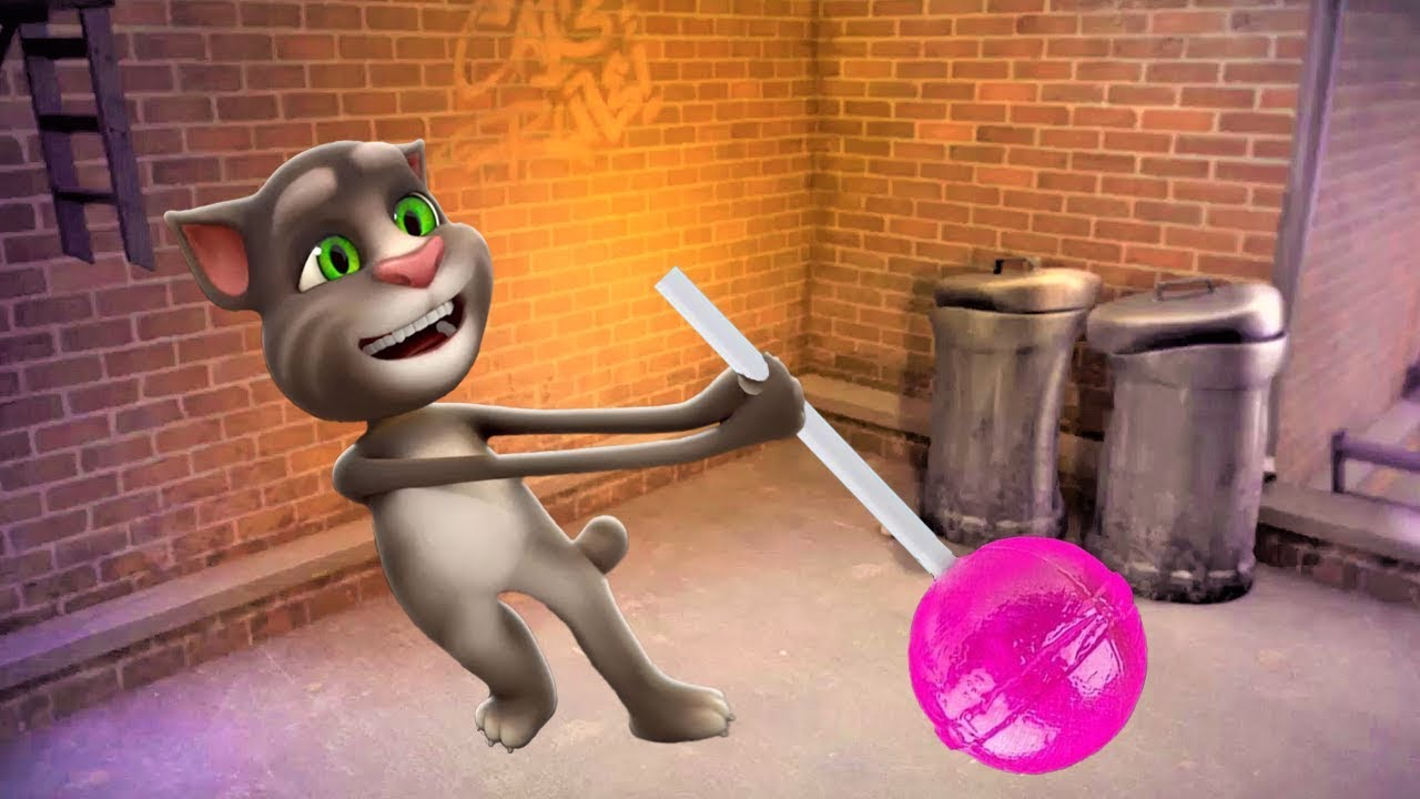Learn Colors with Talking Tom Cat, Surprise eggs and giant candy, Compilation  for Kids #16