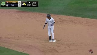 Grand Junction's Piron doubles home a run(, 2015-08-03T11:48:25.000Z)