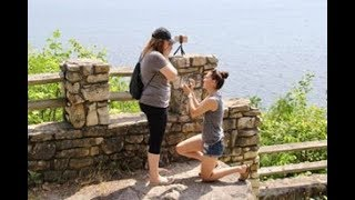 Perfect Proposal! We're Engaged!   LGBTQ   6.30.18   Heather and Cassidy