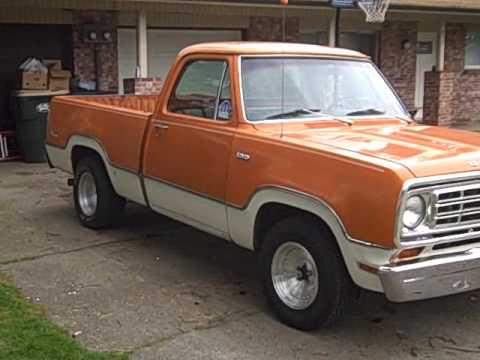 75 dodge truck - YouTube