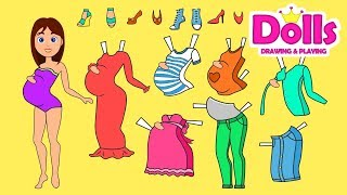 👠👗💄MY NEW PAPER DOLL CLOTHES DRESSES SHOES & ACCESSORIES WARDROBE DRAWING & PLAYING