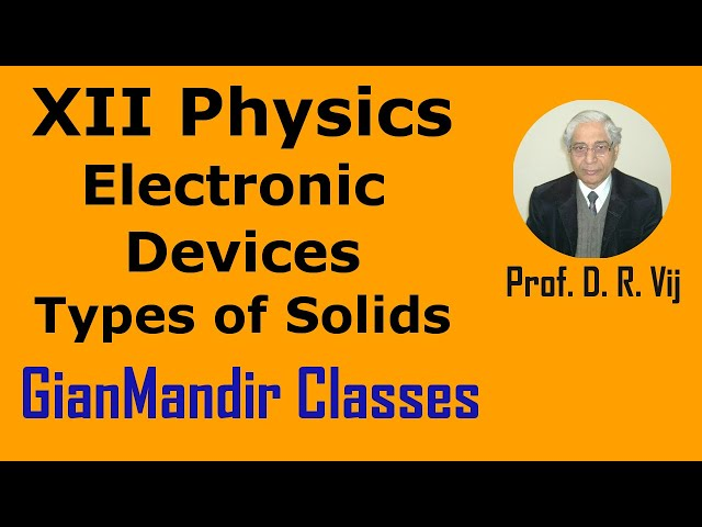 XII Physics | Electronic Devices | Types of Solids by Poonam Ma'am