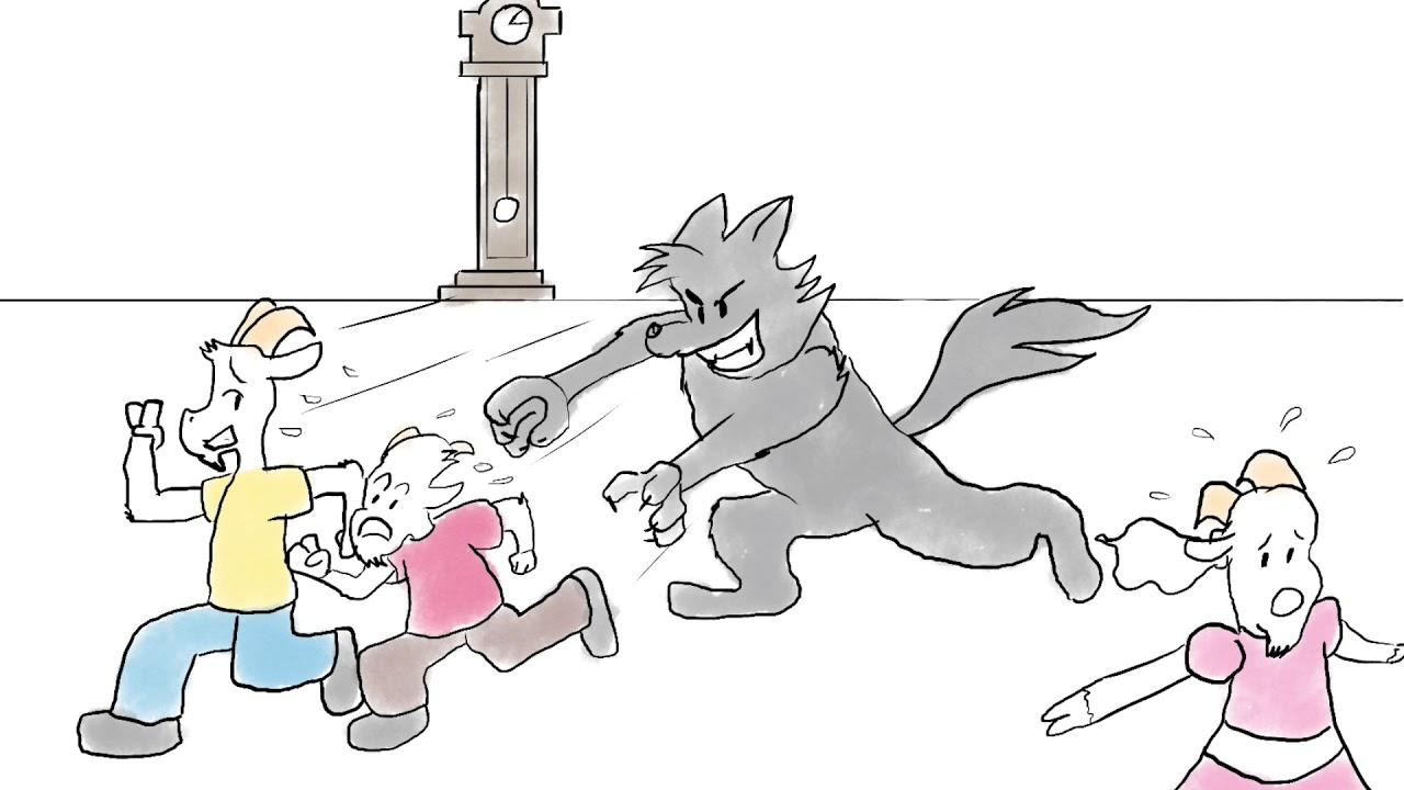 Волк и семеро козлят - Мультфильм - Песни и Сказки для ...