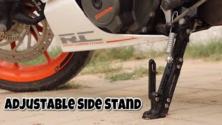Adjustable Motorcycle Side Stand || KTM Modification