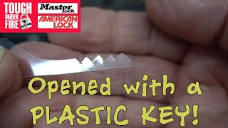 (1401) Master Lock Opened With Plastic Ipad Wrapper