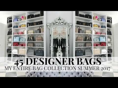 45 DESIGNER HANDBAGS MY ENTIRE COLLECTION | PLUS A NEW BAG REVEAL IAM CHOUQUETTE