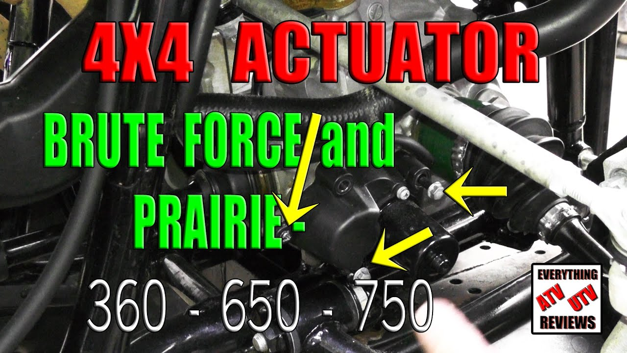 how to remove the 4x4 actuator motor and gear assembly brute force or prairie 360 650 750 [ 1280 x 720 Pixel ]