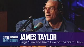 """James Taylor """"Fire and Rain"""" Live on the Stern Show (1997)"""