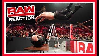 SETH ROLLINS VS BARON CORBIN TLC MATCH reaction | WWE Raw December 10th 2018