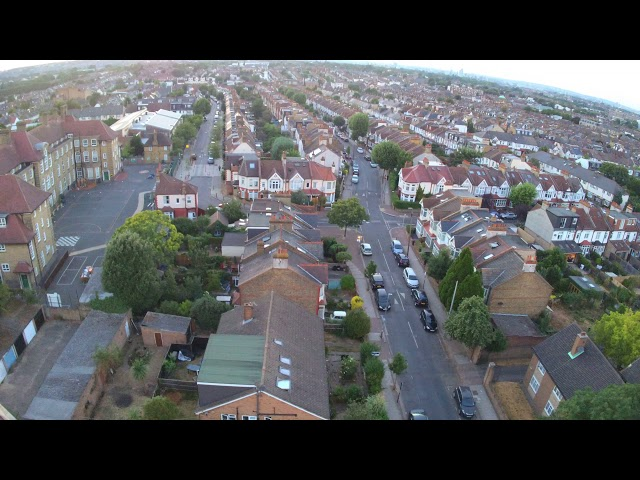 All Saints church Tooting Drone flyby 1/2