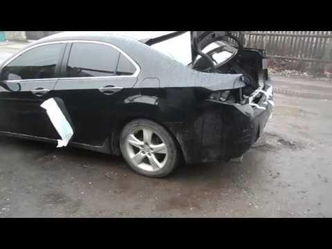 Honda Accord 2008 удар в зад, кузовной ремонт, Kick In The Butt,body Repair