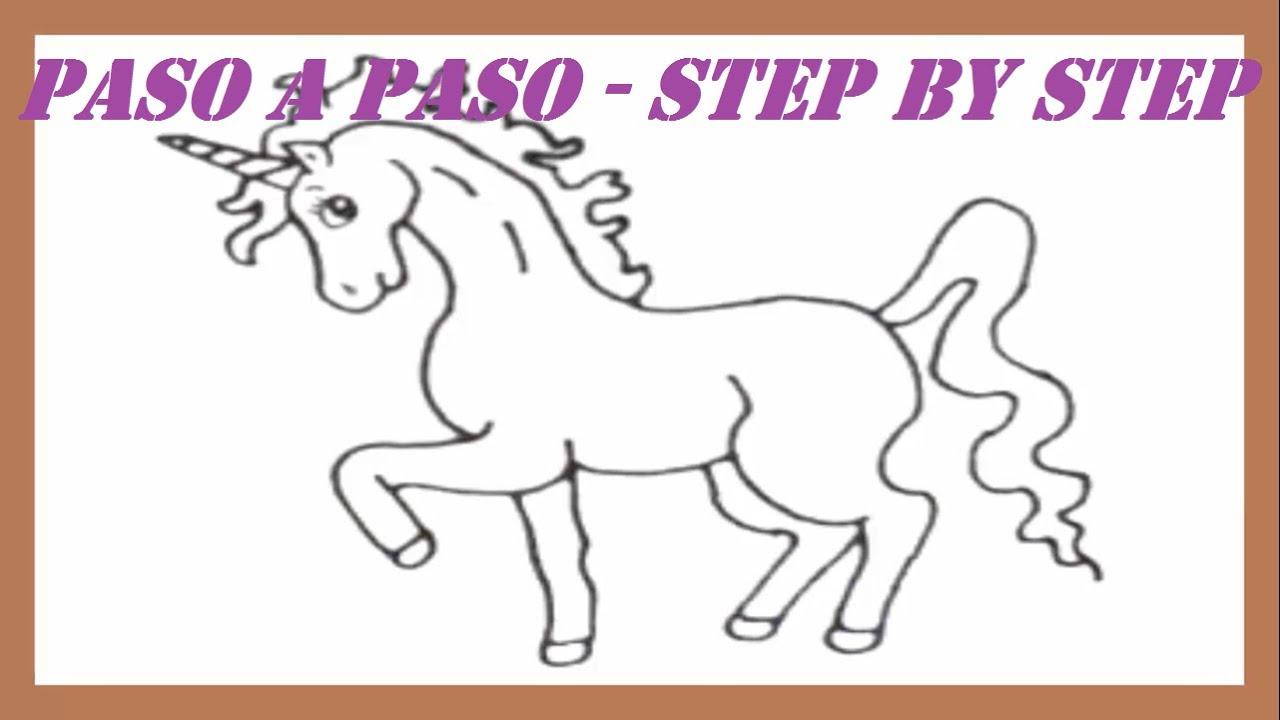 Como Dibujar Un Unicornio Paso A Paso L How To Draw A