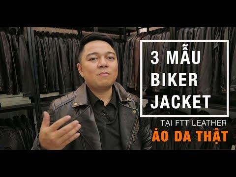 3 Mẫu Biker Jacket áo da thật TẠI FTT LEATHER