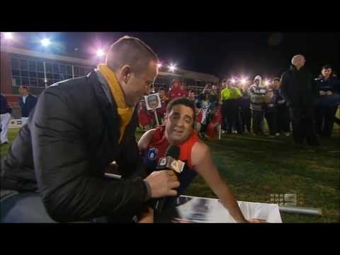 The Footy Show (AFL): Garry Lyon reenacts the stretcher scene (4/7/2013)
