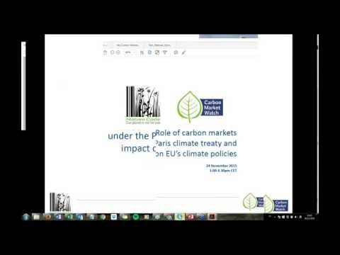 Role of carbon markets under the Paris climate treaty and impact on EU's climate po