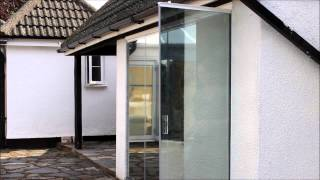 Frameless Glass Doors with one-way glass