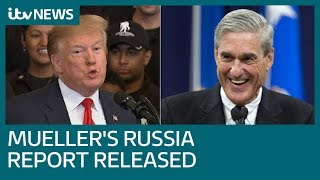 Donald Trump says 'Game Over' after Mueller Report released | ITV News